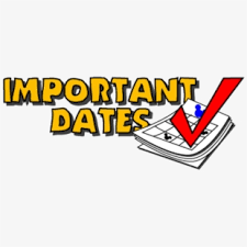Important Dates for December 2nd - December 6th