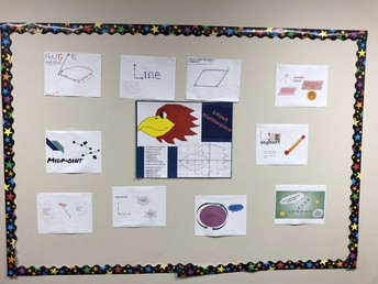 Display in Mrs. Jacques classroom to support Geometry concepts