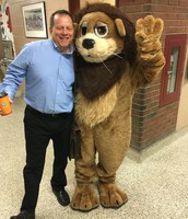 Loop the Lion came to visit