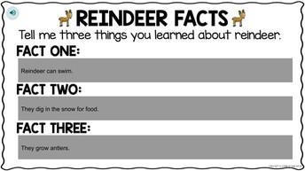 Reindeer Facts by Francheska