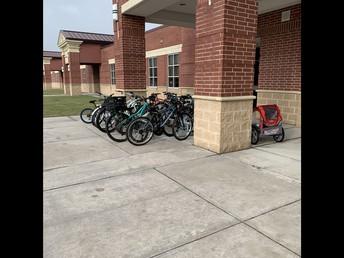 We added two more bike racks at TCI!
