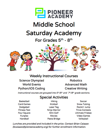Middle School Saturday Academy For Grades 5th - 8th