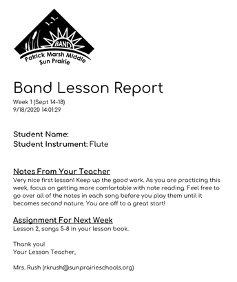 Lesson Reports Launched