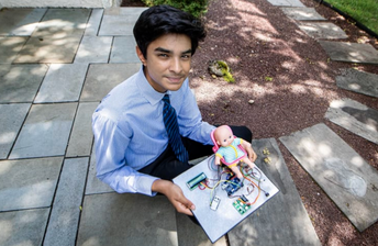 Philadelphia Inquirer Features UHS Student for Award-Winning Baby Saver Invention