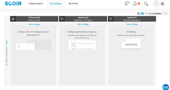 """""""My Colleges"""" Search Tool"""