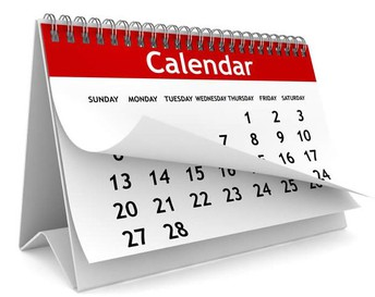 Running Calendar- New info in bold
