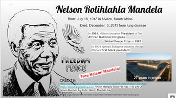 Nelson Mandela - First Black South African President