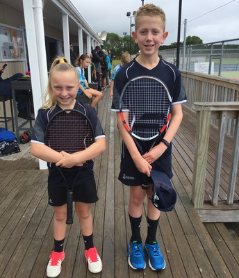 Brooke and Fabian at the WBOP Inter-school Tennis Tournament