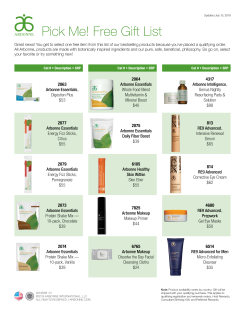 Consultant Free Gift List