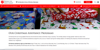 Salvation Army Holiday Assistance Information