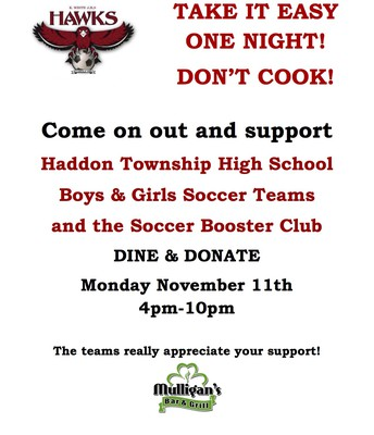 Soccer Dine & Donate