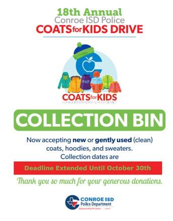 Coats for Kids Drive  - Donation Deadline Extended