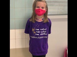 Amelia W.  looking so cute in purple!