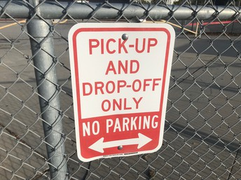 Pick-Up and Drop Off Only Sign