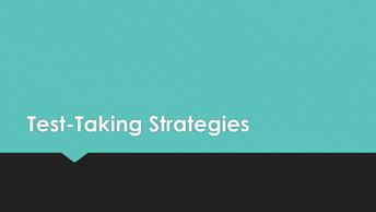 Test-Taking Strategies (3-5)