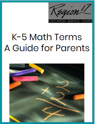 K-5 Math Terms - A Guide for Parents