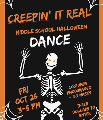 Middle School Dance - This Friday!