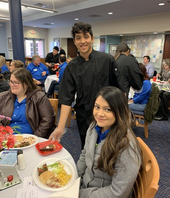 Culinary Art Students Serving Others