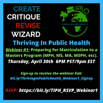 Webinar: Matriculating into a Masters Program (MPH, MSPH, etc)