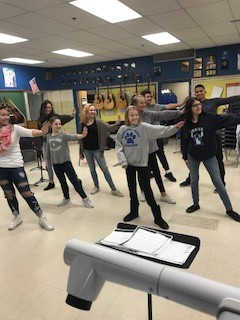 Cast of Shrek Practicing Choreography