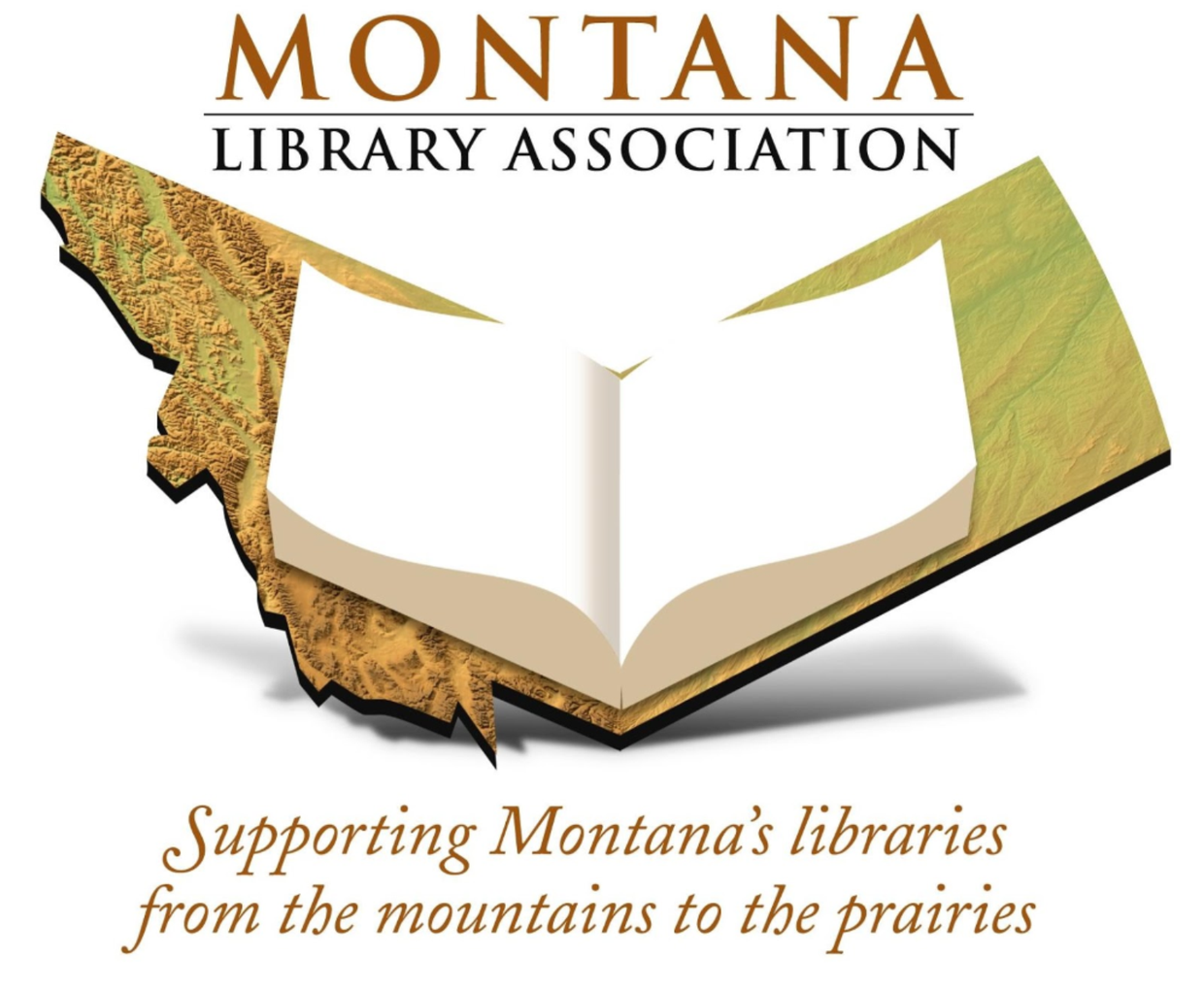 Montana Library Association logo and mission statement