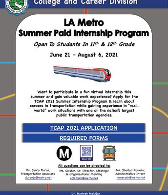 LA Metro Summer Internship Program