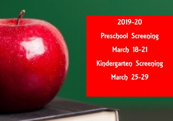 2019-20 Preschool and Kindergarten Screenings