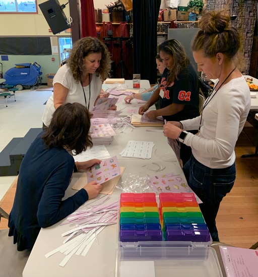 Thank you to our literacy coach, Amy Tipelin, and parent volunteers for organizing K-2 phonic materials that will align directly with our Teachers College Units of Study curriculum.  This was a huge project, and we are so appreciative of this work!