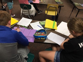 Working on our books in History