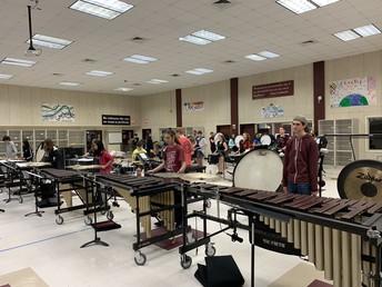 Indoor Drumline Rehearsals
