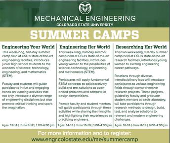Mechanical Engineering Summer Camps-CSU