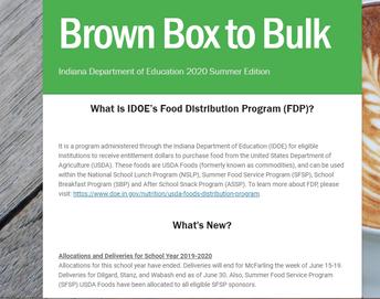 Brown Box to Bulk Newsletter