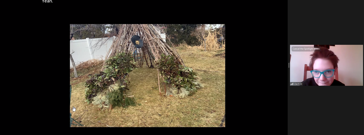 Zach built a structure similar to those which the Paiute built.
