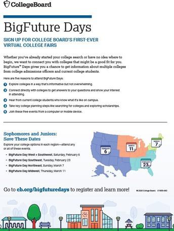 College Board BigFuture Days Virtual College Fair/ Big Future Days - Primera feria universitaria virtual de College Boards