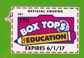 Box Tops are due February 22nd!