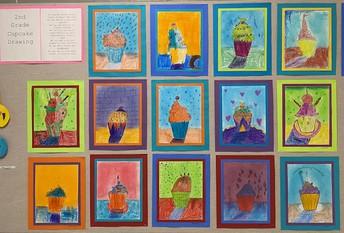 2nd Grade Cupcake Drawings