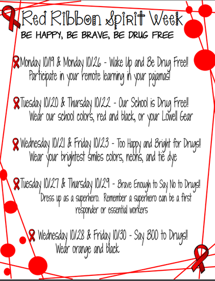 Red Ribbon Spirit Week