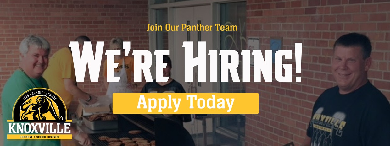 We're Hiring! Apply Today.