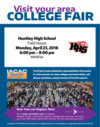 April 23rd College Fair 6:00 - 8:00 pm