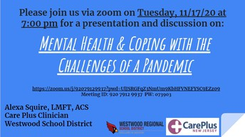 Mental Health & Coping with the Challenges of a Pandemic