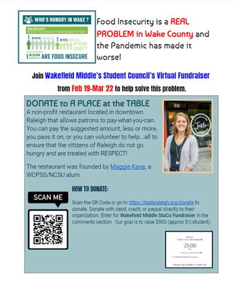 Student Council Virtual Fundraiser - Update!