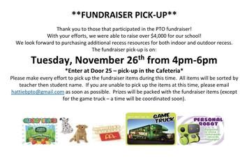 PTO Fundraiser Pickup