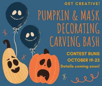 Reed PTSA Pumpkin Carving / Mask Decorating Contest