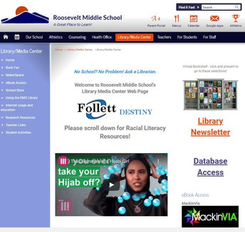 Roosevelt Middle School LMC Website