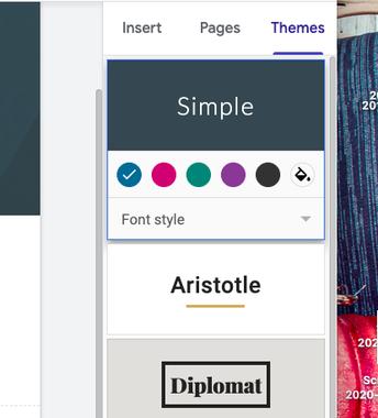 Theme- tab