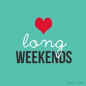 Fin de semana de 4 días