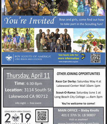Boy Scouts of America: April 11th
