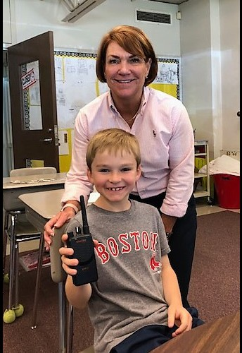 Noah Caruso- Principal for the Day at South Elementary!