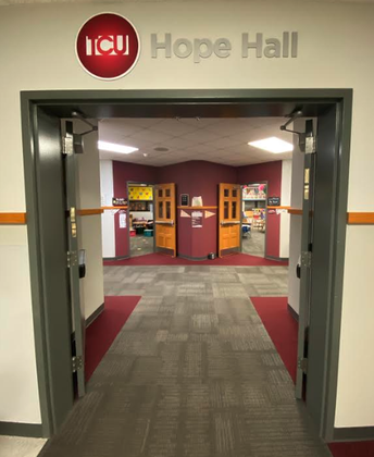 Entrance to TCU Hope Hall at Jimtown Elementary School