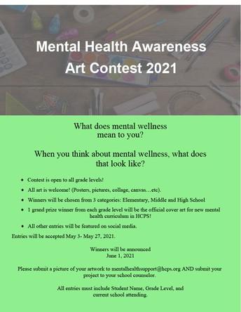 Mental Health Awareness Art Contest